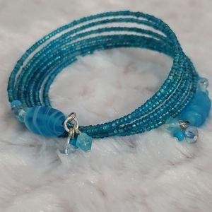 🚨🚨3/$25 SALE🚨🚨•Teal turquoise blue memory wire bracelet•Bundle!💎